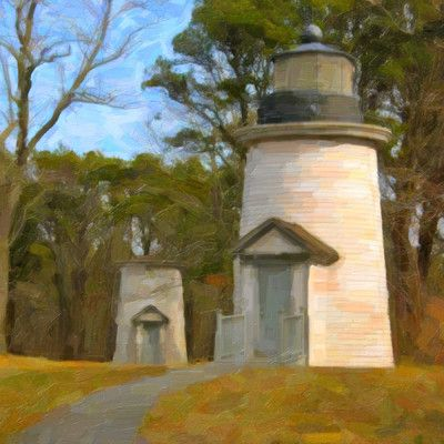 Graffitee Studios Cape Cod 'Three Sisters Painted' Painting Print on Wrapped Canvas