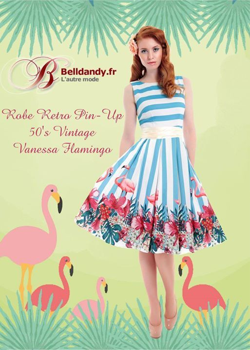 Robe Rockabilly Retro Pin-Up 50s Vintage Vanessa Flamingo Flamant  http://www.belldandy.fr/robe-rockabilly-retro-pin-up-50-s-vintage-vanessa-flamingo-flamant.html https://www.facebook.com/belldandy.fr/photos/a.338099729399.185032.327001919399/10154572543149400/?type=3