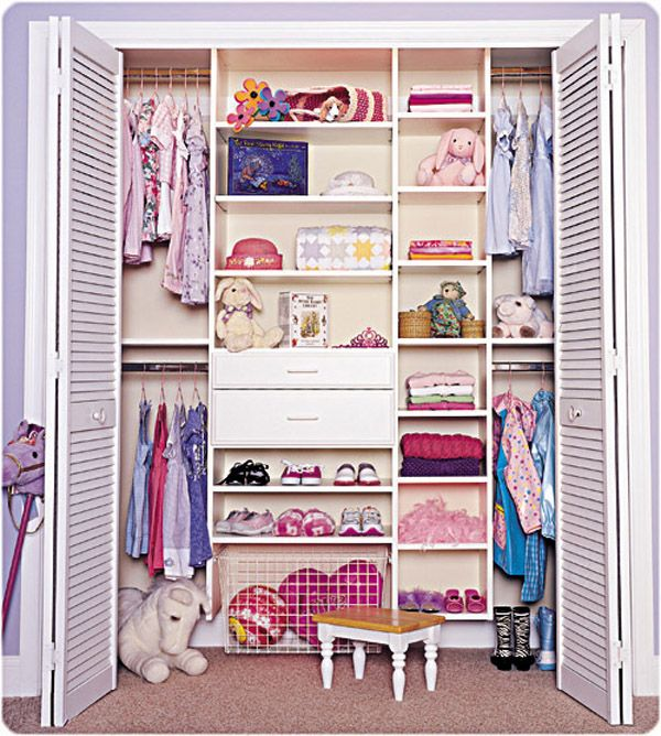 This Neat Closet Has A Wide Variety Of Options For Essential Storage Small Childrens Clothing