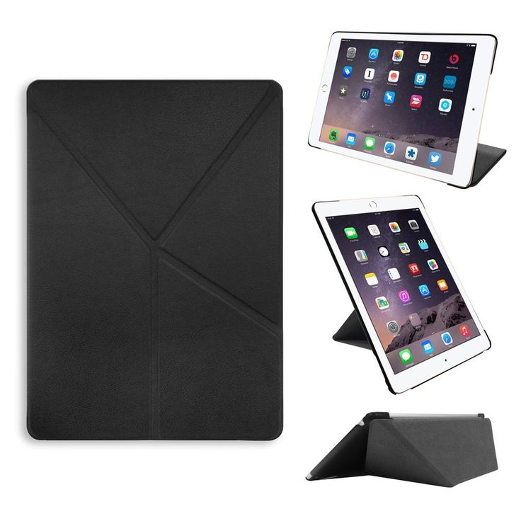 Amazon.com: iPad Air 2 Case - OZAKI O!coat Simple Horizontal & Vertical Dual Stand Slim Case for iPad Air 2 / Full Protection / Auto Sleep and Wake - Black: Cell Phones & Accessories