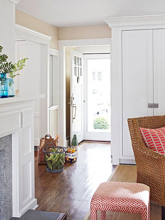 Baseboards, which take a beating from passing feet, rambunctious pets, in-transition furniture pieces, and wayward vacuum cleaners, often need touching up long before it's time to repaint walls. Rejuvenate woodwork with a thorough cleaning and fresh coats of paint. If needed, patch dings and prime over dark marks before painting.
