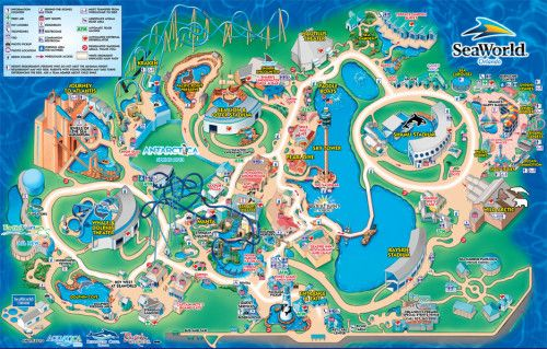 SeaWorld Orlando Map. Bucket list: Go to seaworld