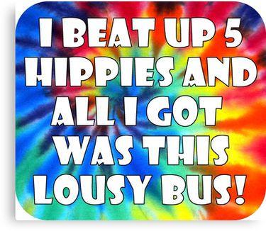 I Beat up Hippies Volkswagen Bus Decal
