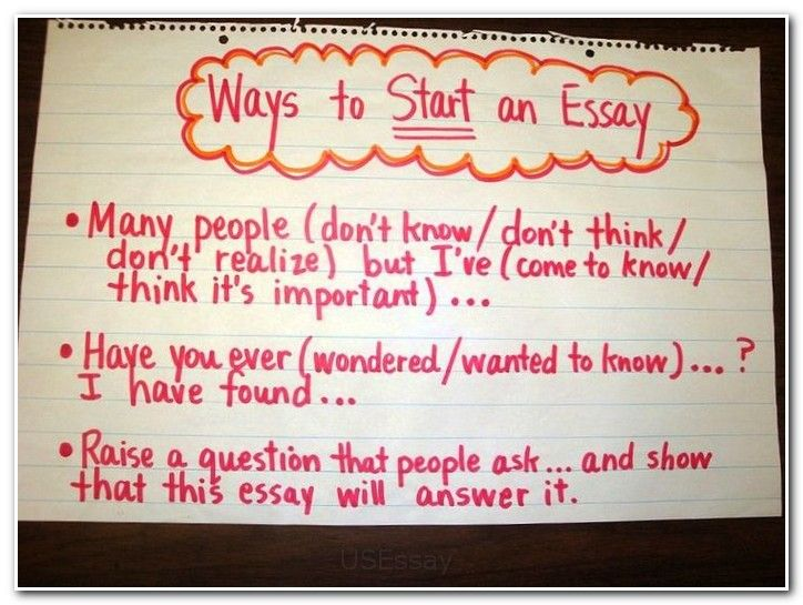 Good Ways To Start A Scholarship Essay