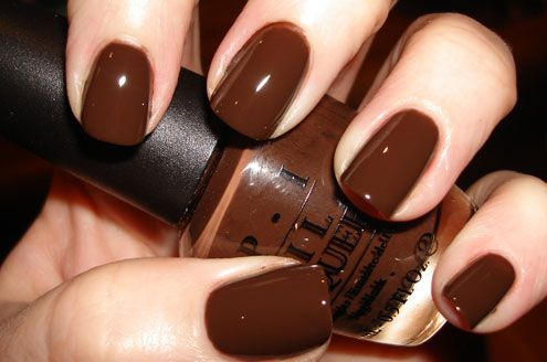 this just screams chocolate at me and i love it.  OPI Suzi Loves Cowboys