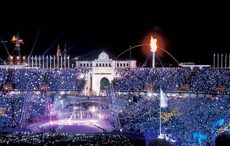 Ceremonia de inauguración de las Olimpiadas de Barcelona 1992.