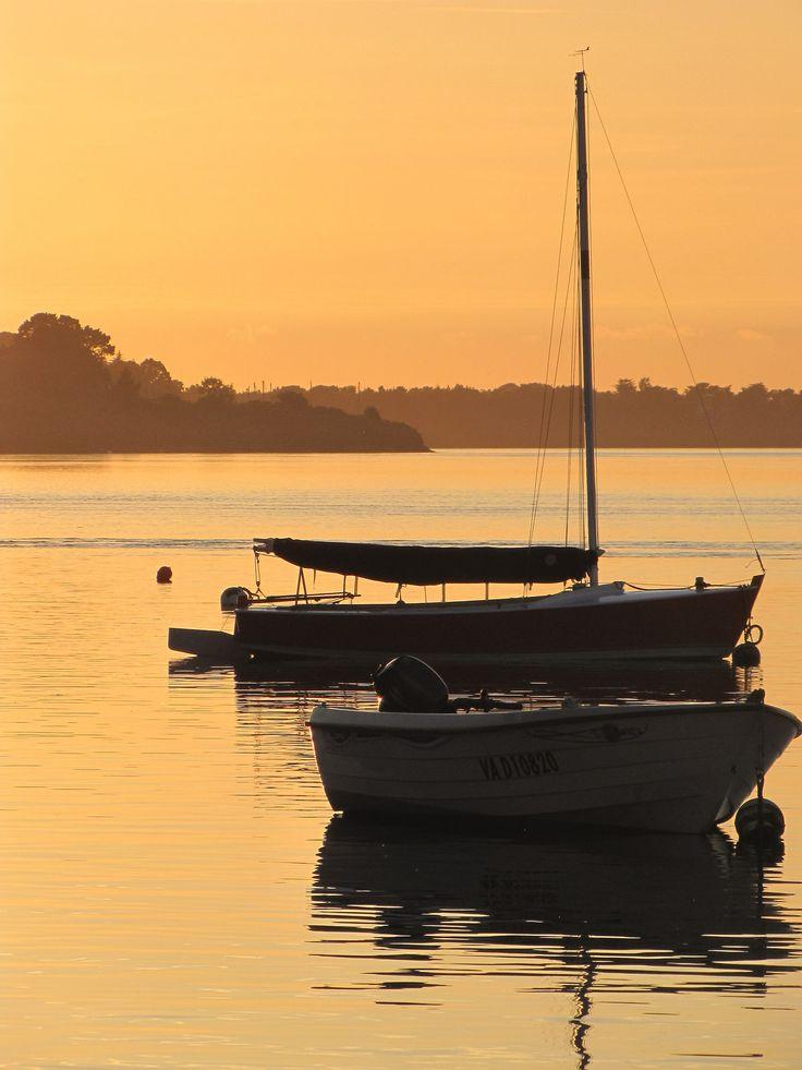 Jolie lumière sur le Golfe du Morbihan.