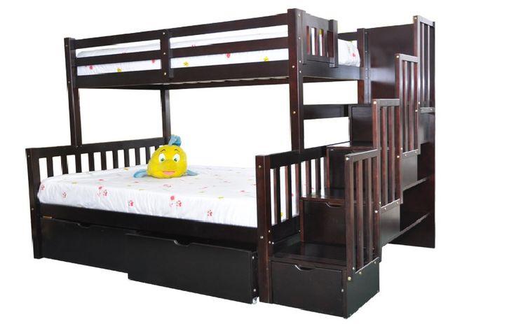 Les 25 meilleures id es de la cat gorie lit superpos escalier sur pinterest - Etagere lit superpose ...