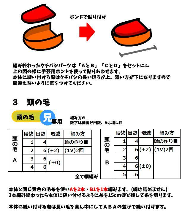 ポインコ兄弟 (兄) あみぐるみ 編み図 :Photo_3