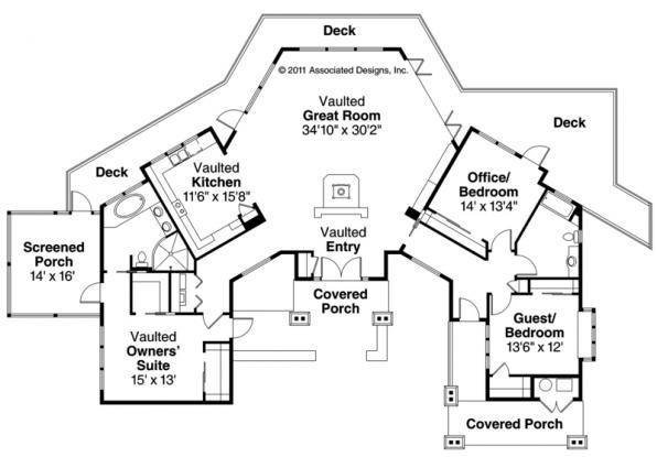 30 best l shaped house plans images on pinterest for L shaped craftsman home plans