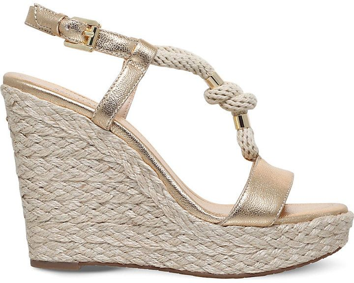 MICHAEL Michael Kors Holly wedge leather and rope sandals