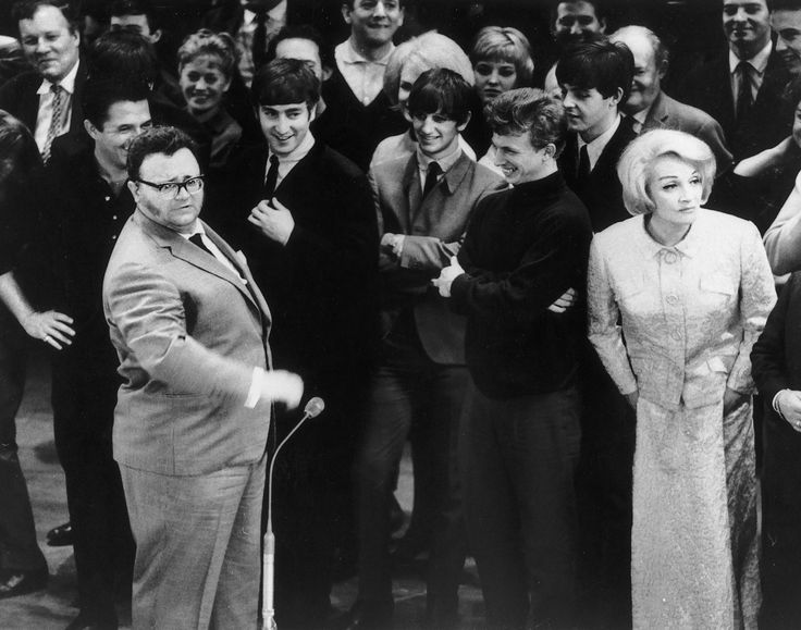 The Beatles with Harry Secombe, Tommy Steele and Marlene Dietrich in 1963