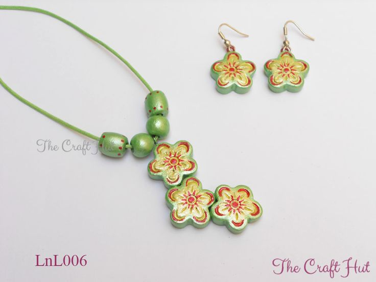 #TheCraftHut #TerracottaJewellery Rs.360 #LnL Handcrafted Terracotta Jewellery set