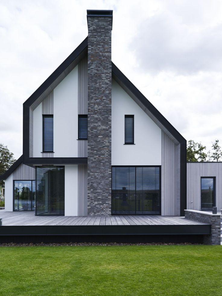 Meer dan 1000 idee n over stucwerk huizen op pinterest schalie gevelbeplating stucwerk huizen - Moderne buitenkant indeling ...