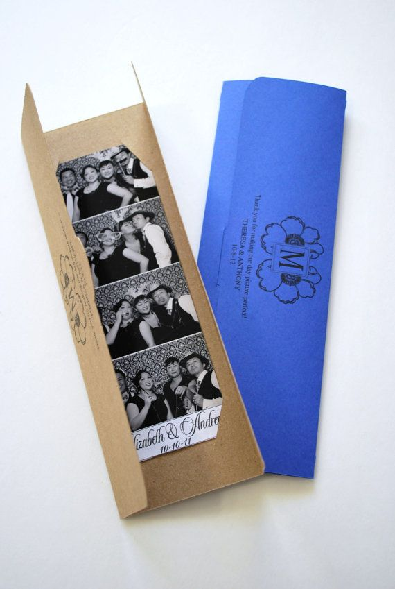 Eco chick Photo booth party favor picture holder, holds up to 10 2x6 photo booth photo strips. Perfect addition for your photo booth! www.MyOneSweetDay.com $1.50