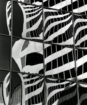 """""""Building Reflections"""" by Brett Weston DISTORTION THROUGH REFLECTIONS"""