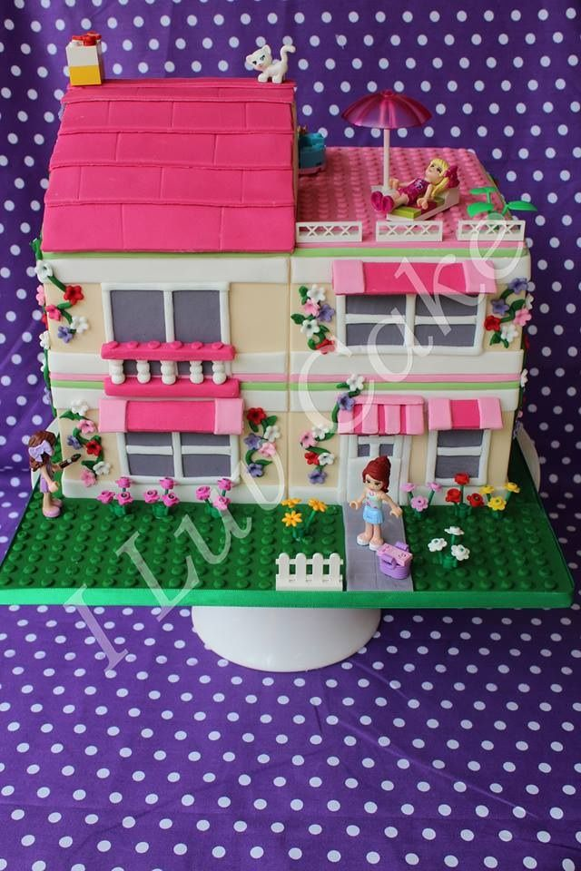Friends lego Olivia's House by I Luv Cake https://facebook.com/Iluvcakebycharissestokes