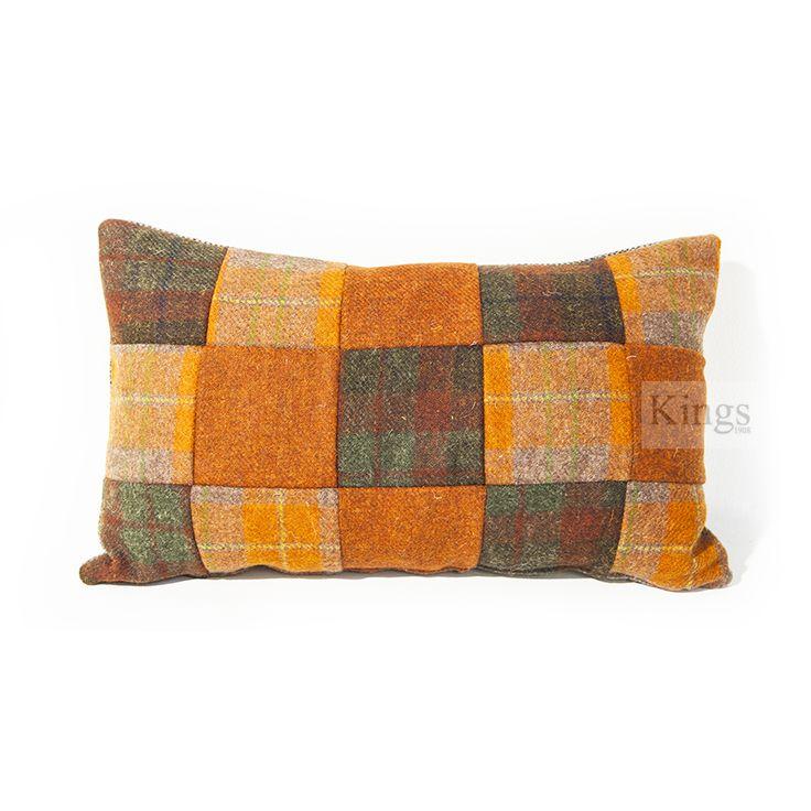Harris Tweed Summer Check Patchwork Cushions  www.kingsinteriors.co.uk/brands/tetrad-harris-tweed