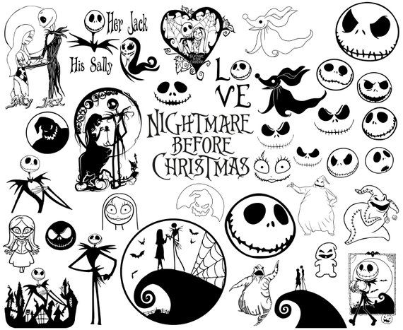 Nightmare Christmas Silhouette Vector