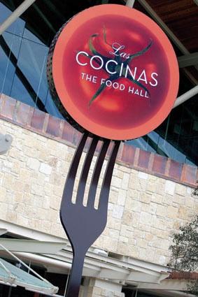 Shops at La Cantera Retail Center Food Court Identification Signage