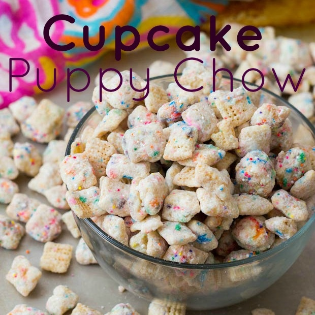 cupcake puppy chow. I love original puppy chow... I'm definitely gonna have to try this!!!