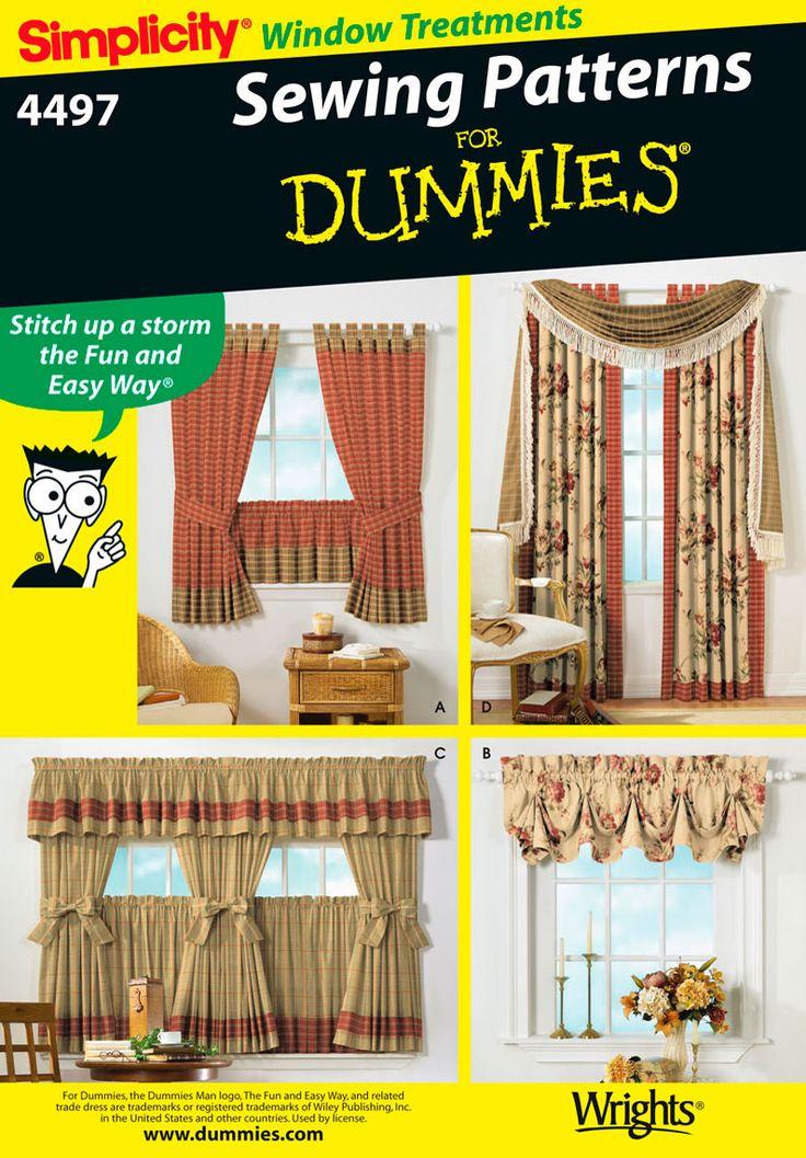 Window Treatments Curtain Panels Sewing Pattern 4497