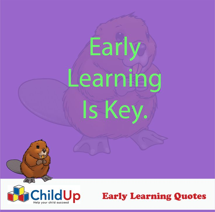 Early Learning Quote 500: Early Learning Is Key.