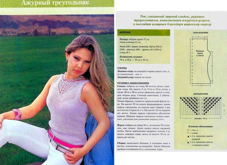 Вязание спицами. Женские топы: 22 тыс изображений найдено в Яндекс.Картинках