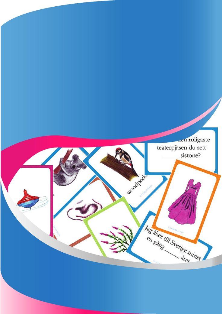 Fun with flashcards - Kortkul och Ordskatter Printable
