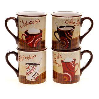 Certified International Cup of Joe Mug (Set of 4) | Overstock.com Shopping - Big Discounts on Certified International Mugs