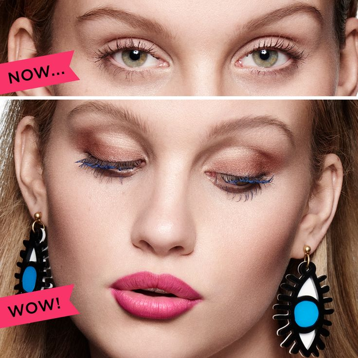 Get beyond-belief sexy eyes with the they're real! collection. Sweep on NEW they're real! duo shadow blender's perfectly paired shades for a big, wide-eyed look. Push up the drama with the lash-hugging gel liner pen and finish with they're real! mascara for criminally sexy lashes.