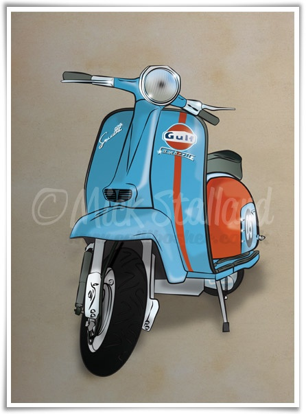 Innocenti Lambretta Li 125 Special (Gulf Racing) Artwork by mixamod, via Flickr