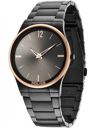 Police Horizon Black Stainless Steel Rose Gold Plated Bracelet Watch 12744JRSBR-61M