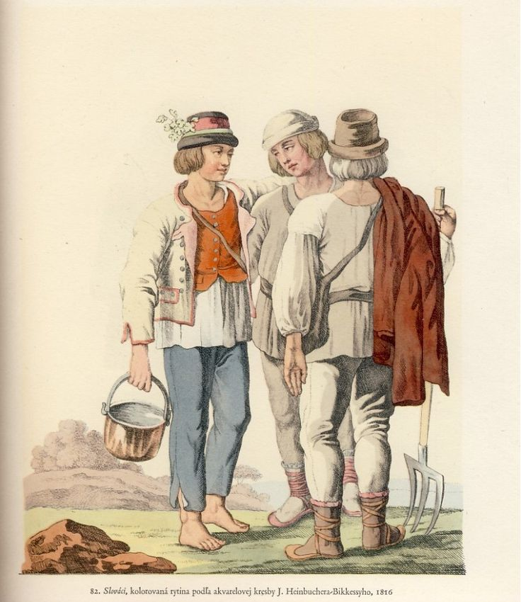Slovak boys, 19th century.
