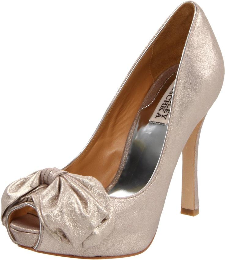 Badgley Misgchka Wilda peep-toe in rose gold. This might be it...: Mischkawomen Wilda, Wilda Peeps To, Wedding Shoes, Gold Peepto, Gold Pumps, Badgley Mischkawomen, Peepto Pumps, Peeps To Pumps, Rose Gold