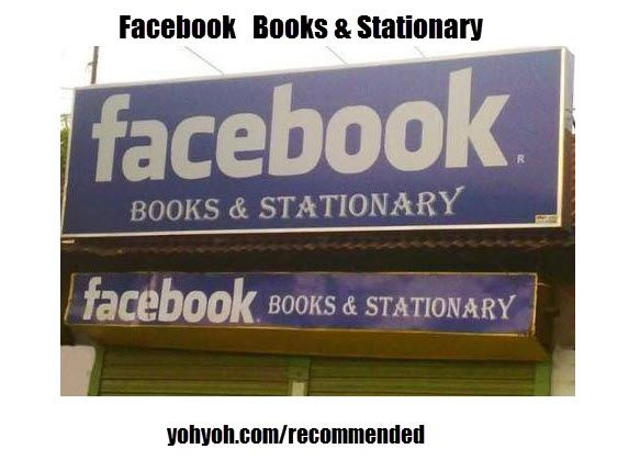 Facebook, Books And Stationary