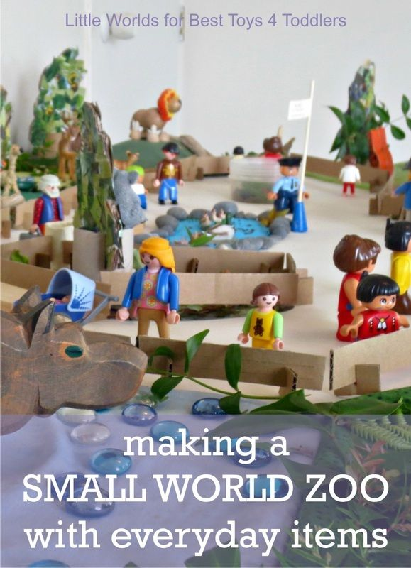Making a Small World ZOO with Everyday Items, part of Less Toys. More Play. series