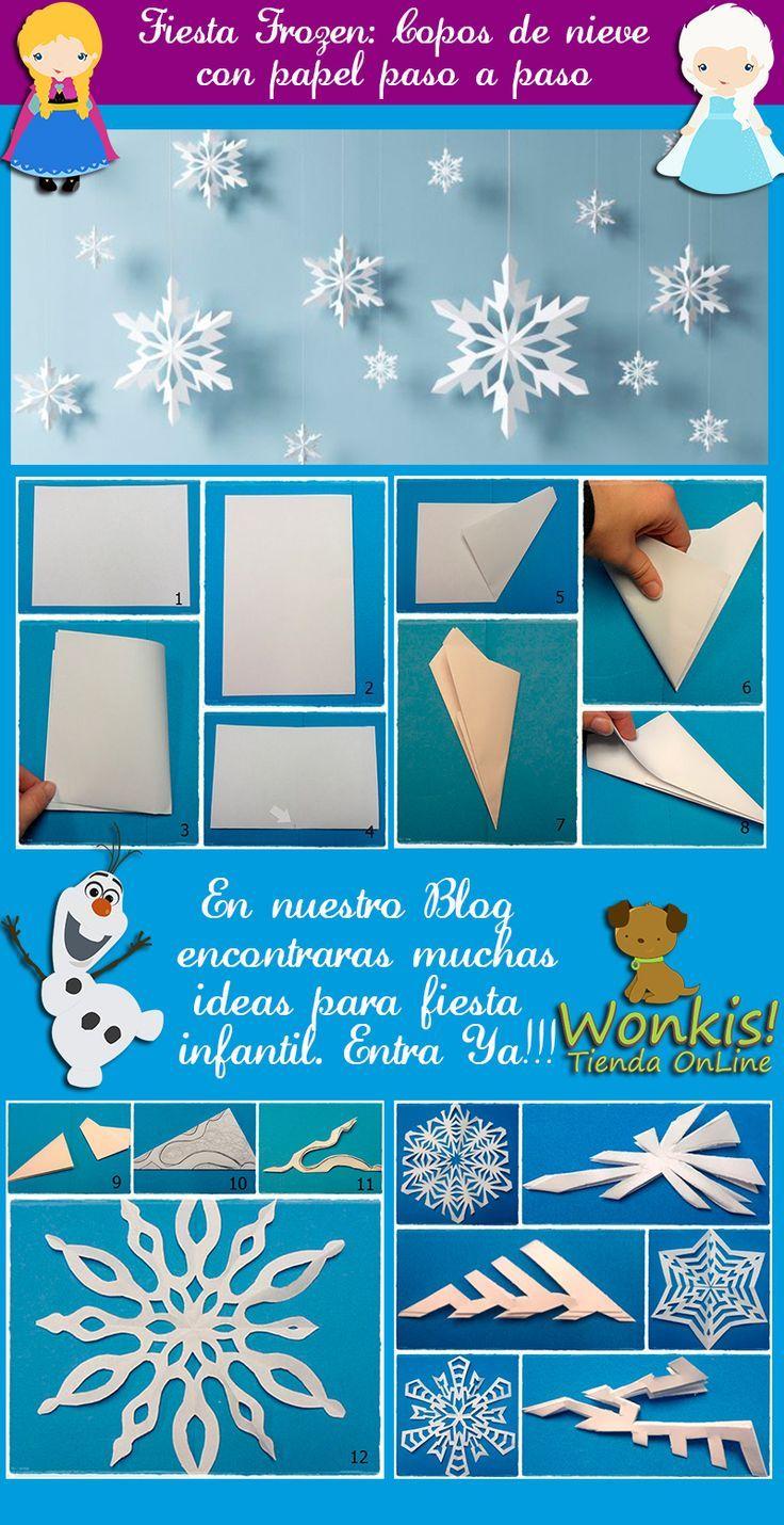 Estas preparando una fiesta de Frozen? Seguro te interesara este paso a paso para hacer copos de nieve de papel. Con un ambiente nevado tu decoración quedará genial!!! http://www.wonkis.com.ar/2014/04/fiesta-frozen-como-hacer-un-copo-de-nieve-con-papel/:
