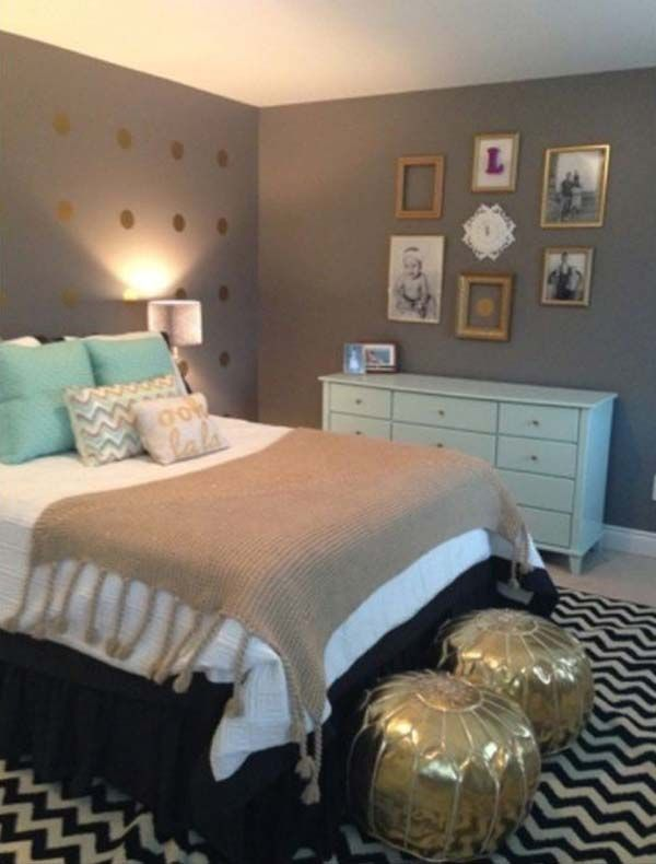 Mint Gold And Grey Bedroom For The Guest Room. If I Ever Have Enough Room  For A Guest Room, This Will Be At The Top Of The List For Consideration.or  I Just ...