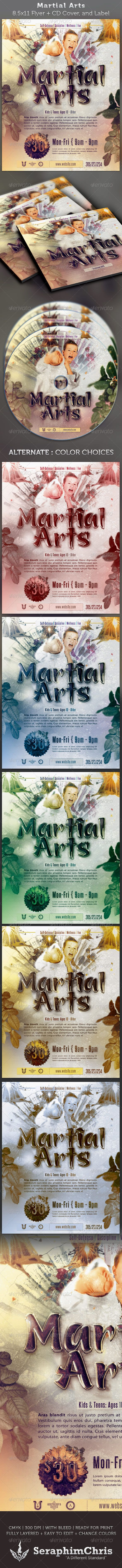 This Martial Arts Full Page Flyer And CD DVD Cover Template Is Customized  For Any