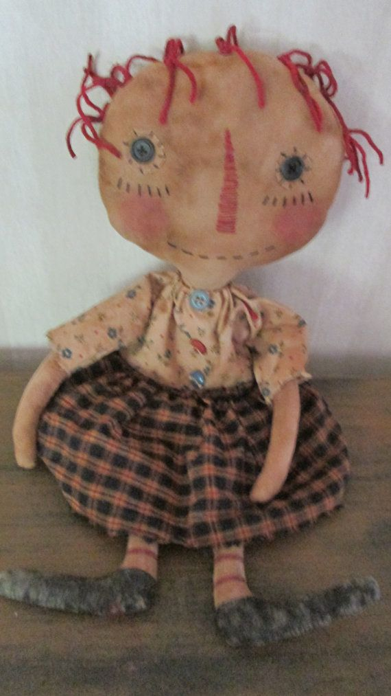 Primitive Raggedy by Bettesbabies on Etsy, $39.00: