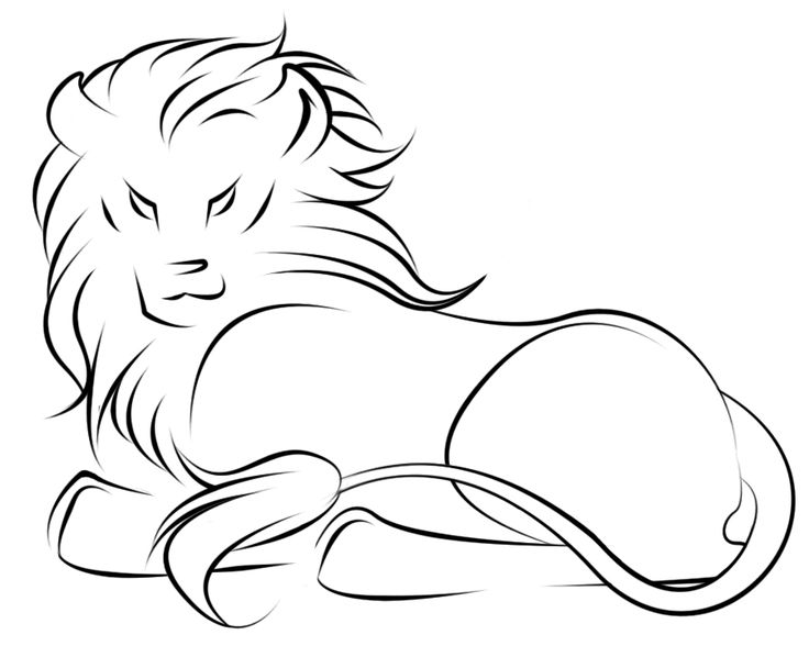 Lion Body Tattoo Outline Silhouette Tattoo | WANT ...