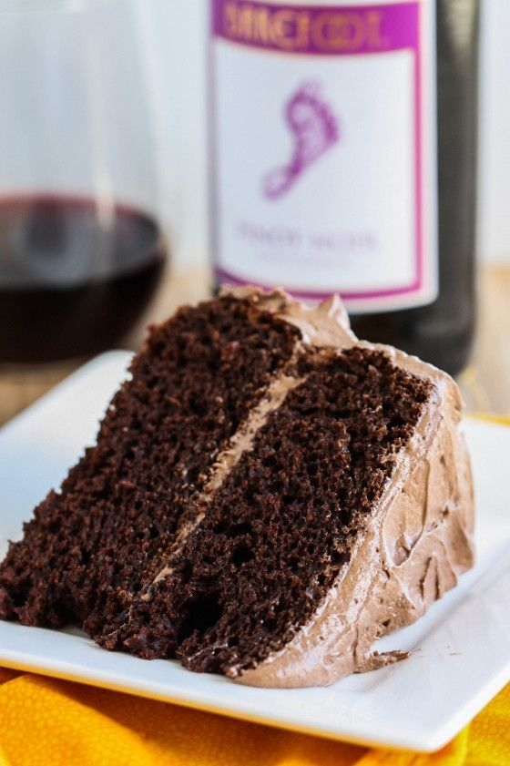 Chocolate Cake with Pinot Noir Frosting - Eat, Live, Run