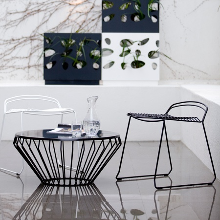 The Jil coffee table, designed by Justin Hutchinson for Tait Outdoor