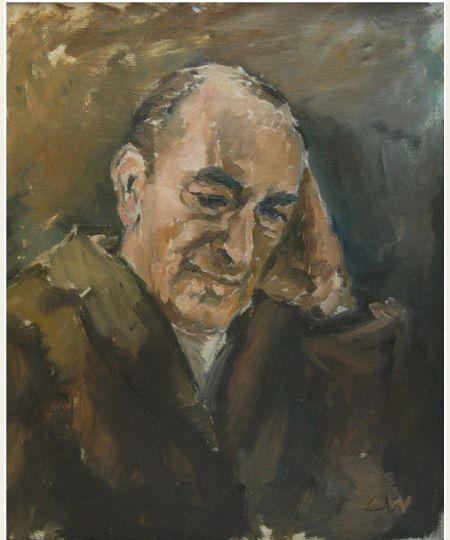 "Lidia Zdzieszyńska, ""Artur Nacht-Samborski"", oil, 50/60 cm"