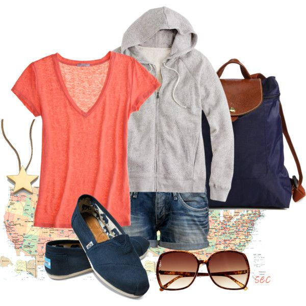 """Road Trip"": Casual Summer, Style, Roads Trips Clothing, Cute Outfits, Summer Roads Trips Outfits, Coombsie24, Toms Shoes, Polyvore, Zoos Outfits"