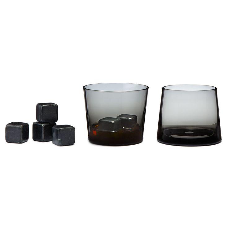 BLACK WHISKEY STONES AND GIFT SET | Soapstone Scotch Rocks | UncommonGoods