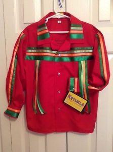 Native American Nakoda Made Boys pow WOW Contest Ribbon Shirt Size 6   eBay
