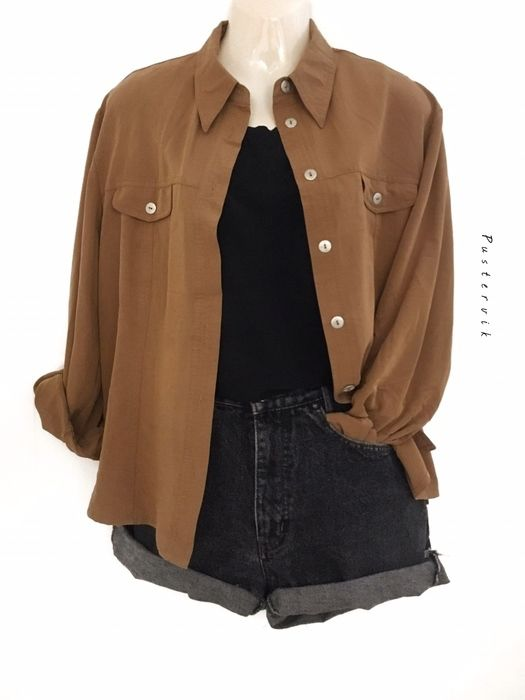 Mein True Vintage Camelbraun Hemd Bluse Oversize Hipster Safari Look Streetstyle…