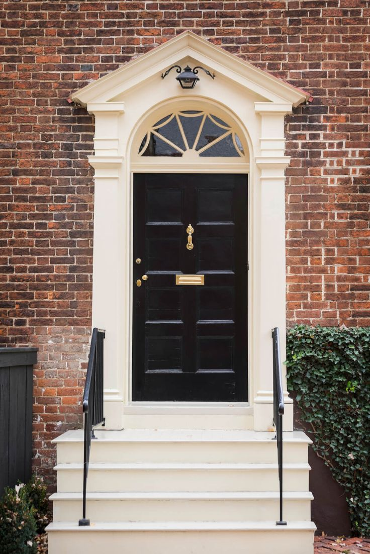 1000 ideas about red brick homes on pinterest brick homes red brick houses and brick houses - Front doors on white houses ...